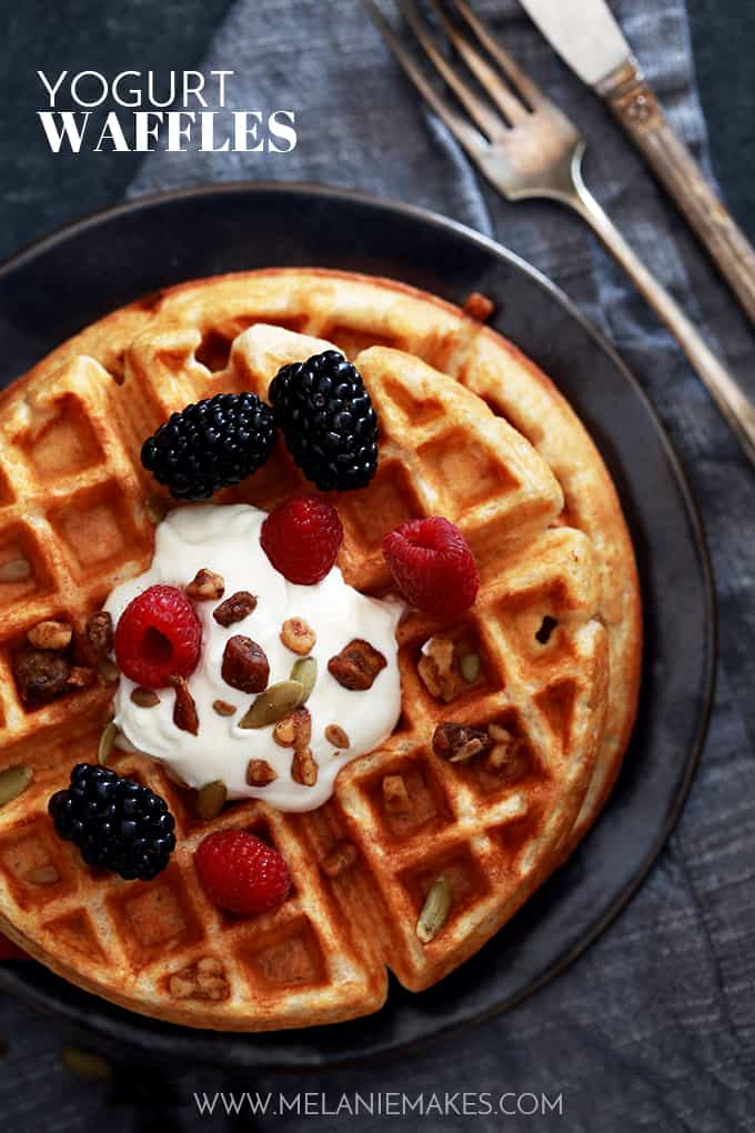 Yogurt Waffles | Melanie Makes