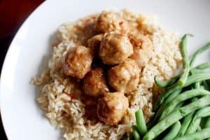 thai chili peanut meatballs