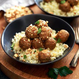 Slow Cooker Thai Chili Peanut Meatballs   Melanie Makes