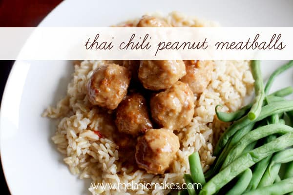 Thai Chili Peanut Meatballs | Melanie Makes