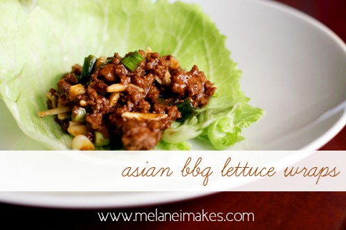 Asian BBQ Lettuce Wraps | @melaniebauer at Melanie Makes