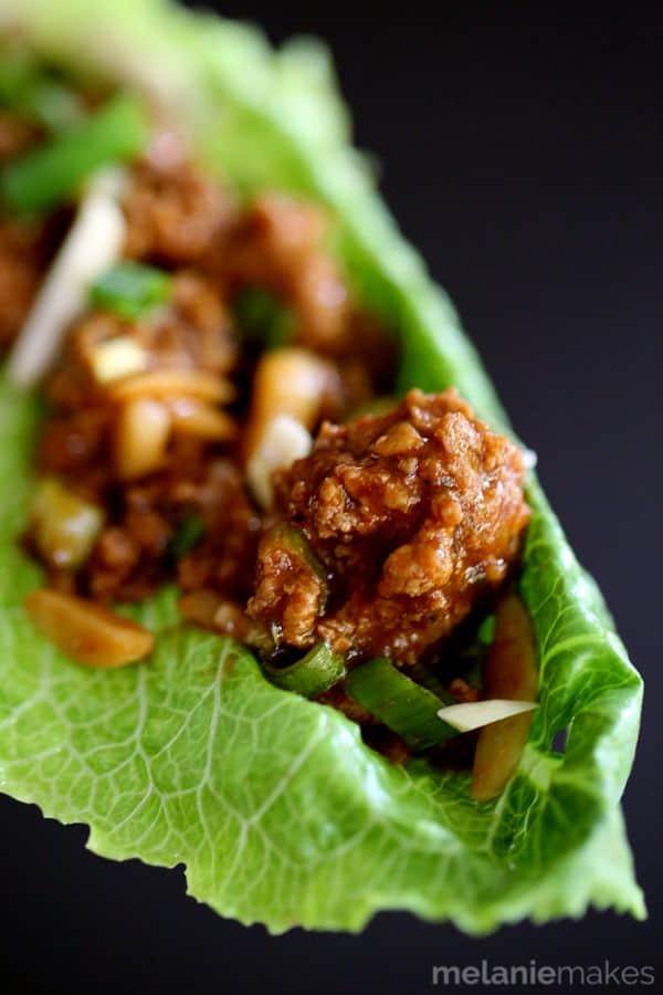 Asian BBQ Turkey Lettuce Wraps | Melanie Makes