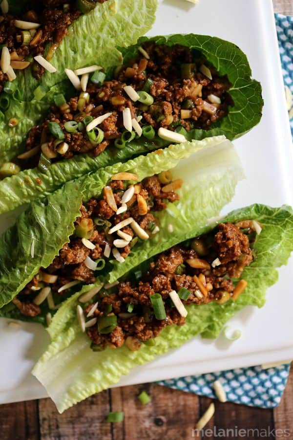 Asian BBQ Turkey Lettuce Wraps | Melanie Makes