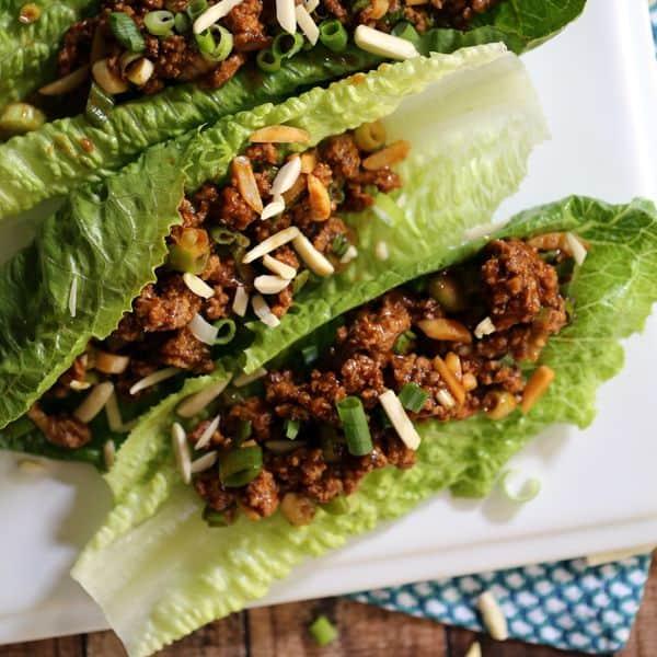 Asian BBQ Turkey Lettuce Wraps