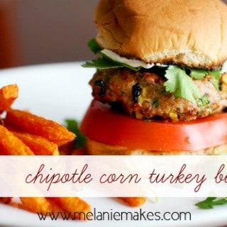 Chipotle Corn Turkey Burgers | Melanie Makes