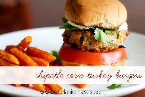 chipotle corn turkey burgers