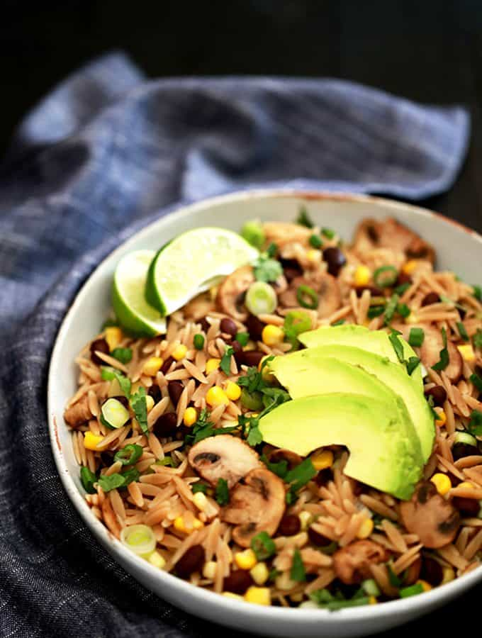 Orzo and Black Bean Salad