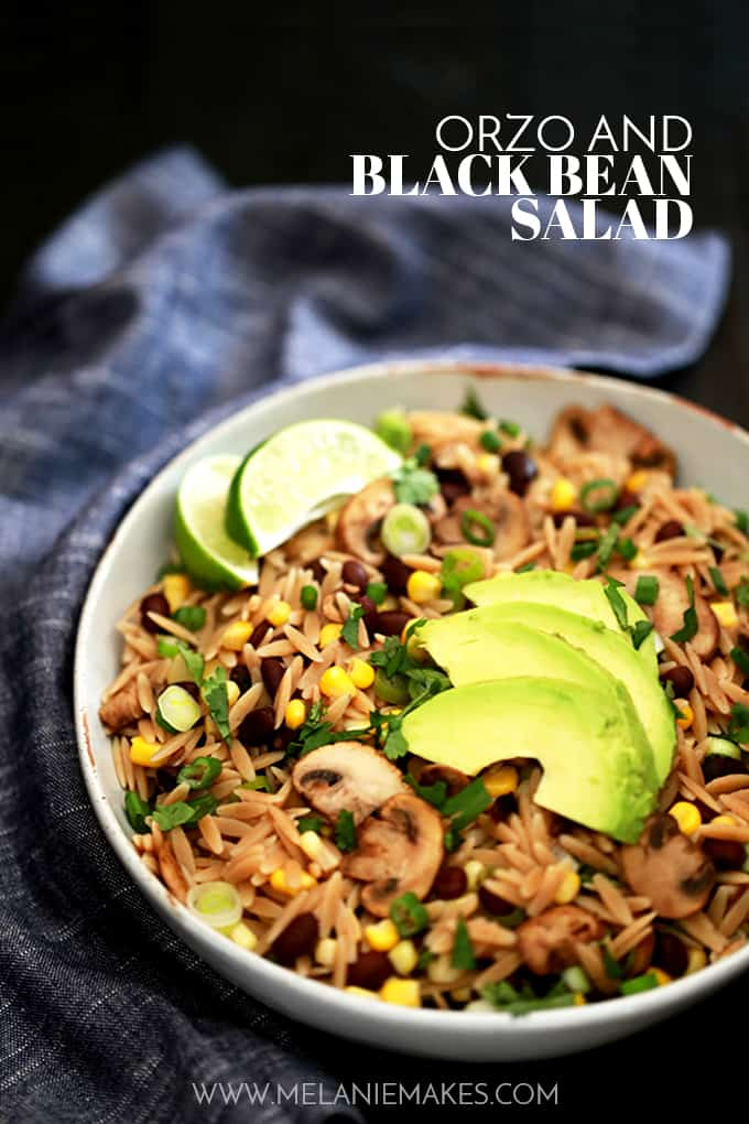 Orzo and Black Bean Salad | Melanie Makes