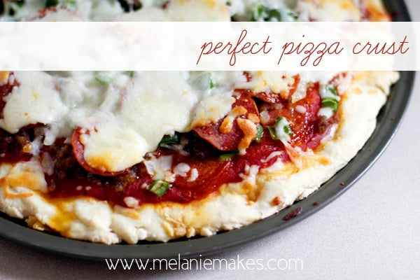 Perfect Pizza Crust | @melaniebauer at Melanie Makes