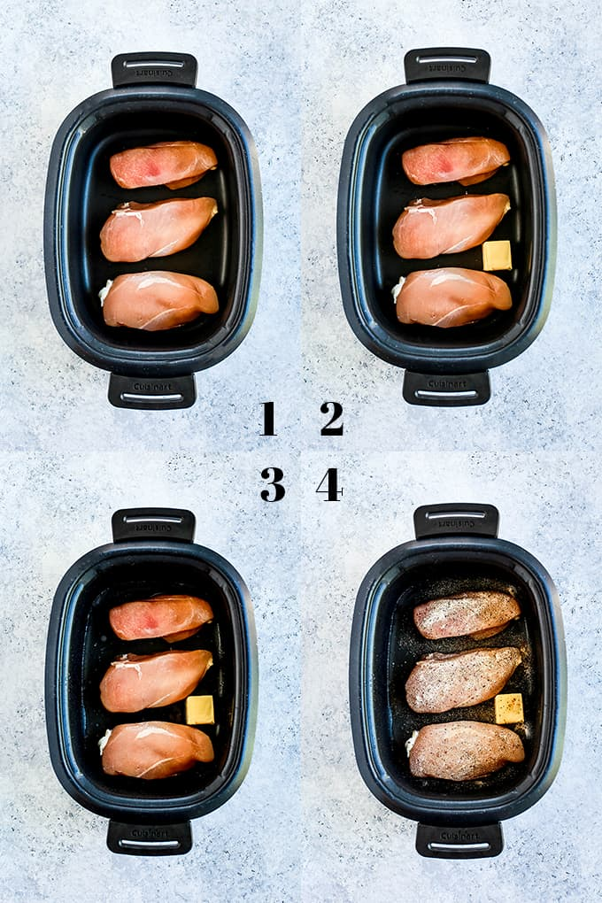 Step by step photos of how to create Slow Cooker Lemon Chicken.