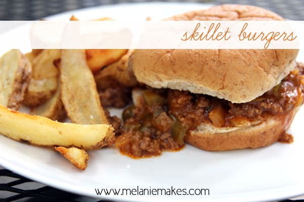Skillet Burgers | @melaniebauer at Melanie Makes
