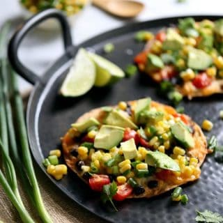 Black Bean Tostadas with Corn Relish | Melanie Makes