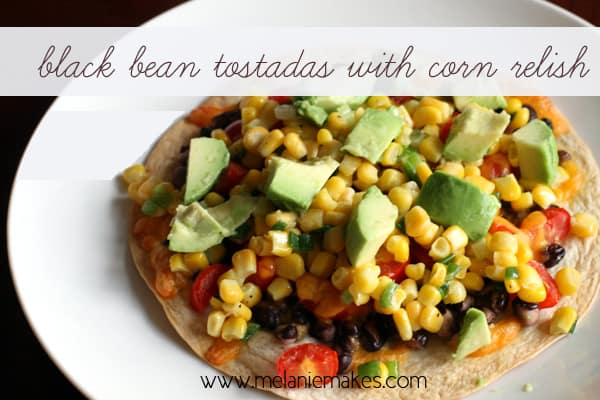 Black Bean Tostadas | Melanie Makes
