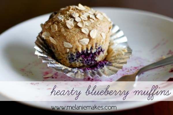 Hearty Blueberry Muffins | @melaniebauer at Melanie Makes