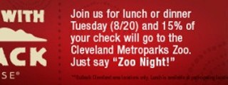 Outback's Cleveland Metroparks Zoo Give Back Night Fundraiser