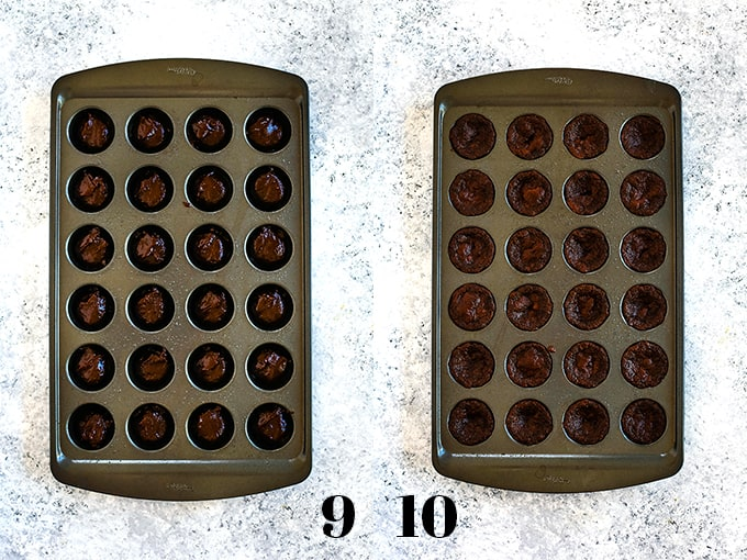 How to prepare Peanut Butter Cup Brownie Bites, steps 9-10.