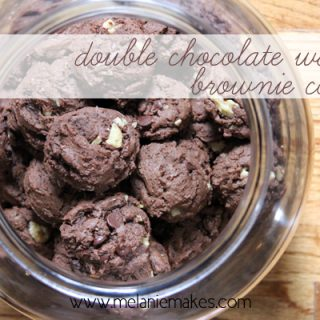 Double Chocolate Walnut Brownie Cookies | @melaniebauer at Melanie Makes