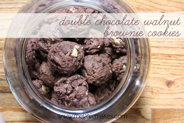 Double Chocolate Walnut Brownie Cookies | @melaniebauer at Melanie Makes