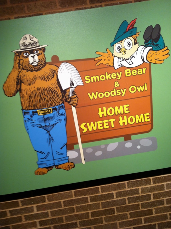 cleveland – museum of natural history smokey bear and woodsy owl exhibit