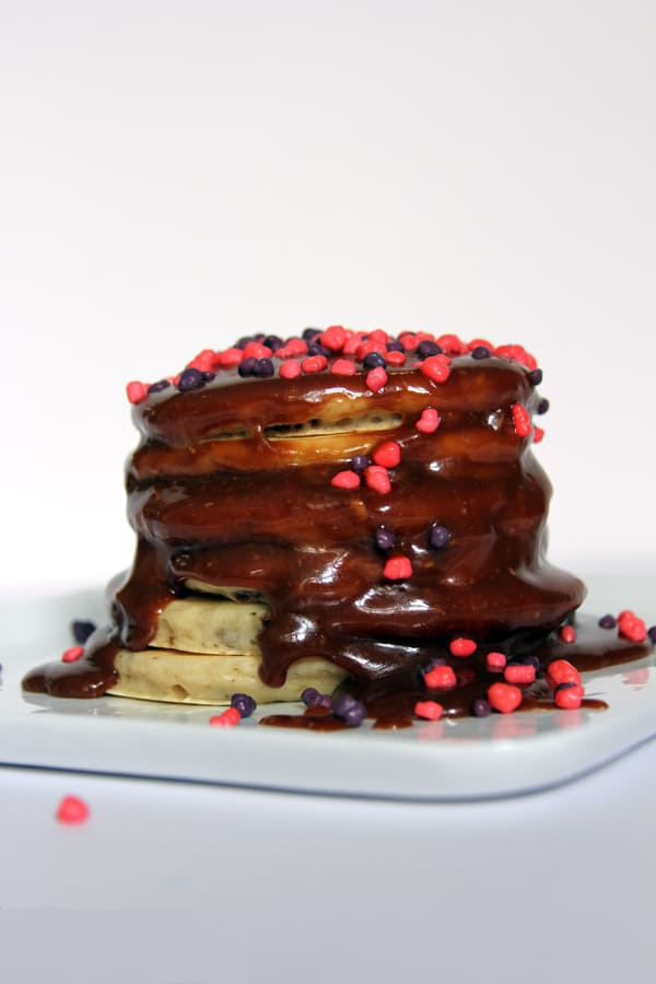 Halloween Candy Dessert Pancakes | @melaniebauer at Melanie Makes #shop
