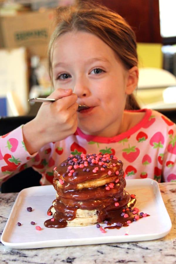 Halloween Candy Dessert Pancakes   @melaniebauer at Melanie Makes #shop