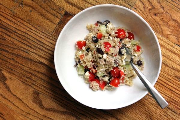 Mediterranean Quinoa Tuna Salad #OceanNaturals #shop