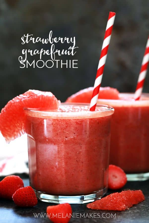 Strawberry Grapefruit Smoothie | Melanie Makes