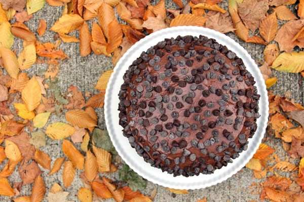 Triple Layer Chocolate Brownie Cake | @melaniebauer at Melanie Makes