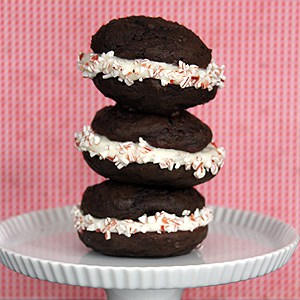 Dark Chocolate Whoopie Pies with Peppermint Mocha Cream | @melaniebauer at Melanie Makes #shop