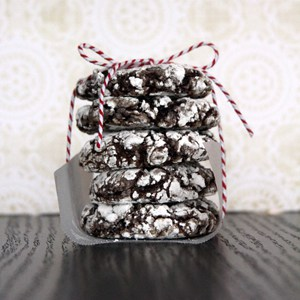 Double Chocolate Ginger Crinkle Cookies