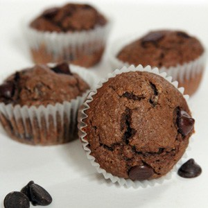 Peanut Butter Mocha Chocolate Chip Muffins | @melaniebauer at Melanie Makes #shop