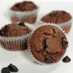 peanut butter mocha chocolate chip muffins with gevalia mocha latte