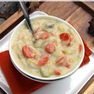 Potato Corn Chowder | @melaniebauer at Melanie Makes