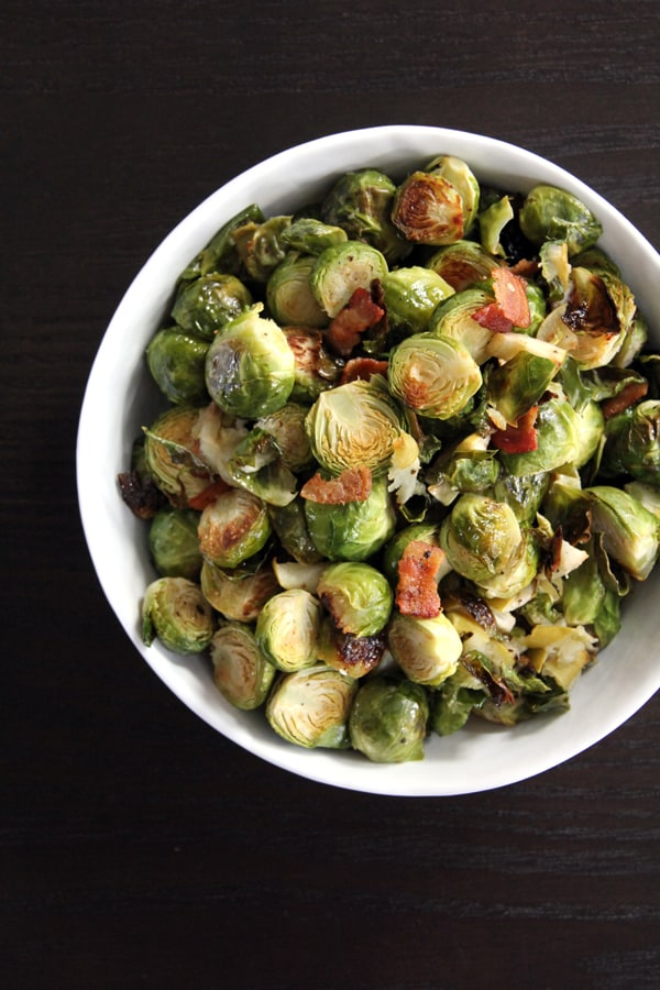 Roasted Brussels Sprouts with Apple and Bacon | @melaniebauer at ...