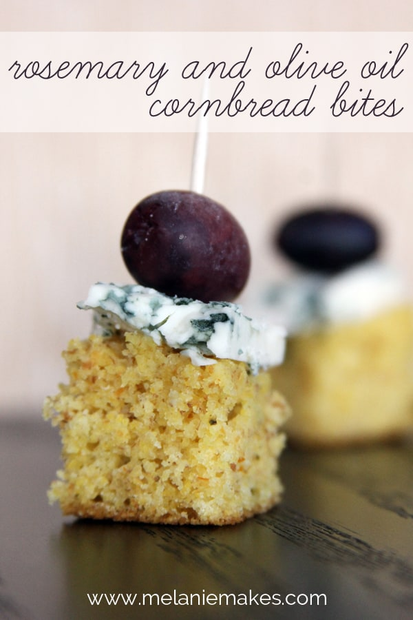 Rosemary and Olive Oil Cornbread Bites | @melaniebauer at Melanie Makes #shop