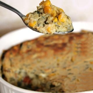 Southwest Sweet Corn Souffle | @melaniebauer at Melanie Makes
