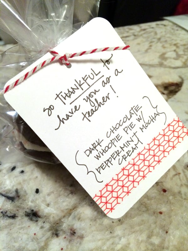 Dark Chocolate Whoopie Pies with Peppermint Mocha Cream | @melaniebauer at Melanie Makes #shop