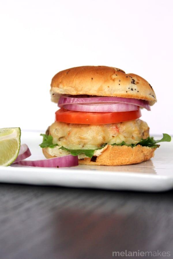 Copycat Trader Joe's Chili Chicken Lime Burgers - Melanie Makes