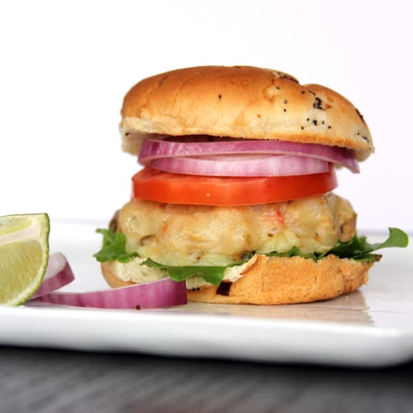 Chili Chicken Lime Burgers | @melaniebauer at Melanie Makes