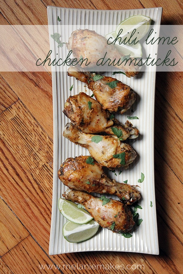 Chili Lime Chicken Drumsticks | @melaniebauer at Melanie Makes