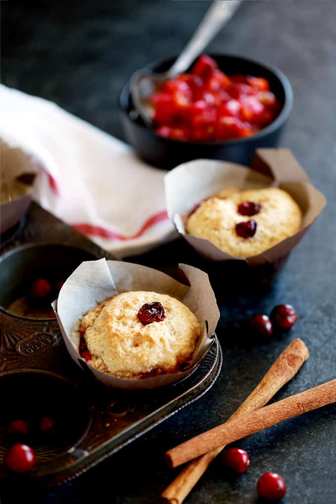 Cranberry Cobbler Muffins - Melanie Makes