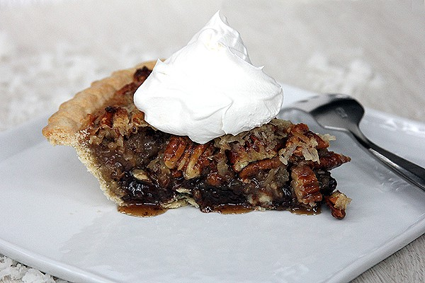 German Chocolate Pecan Pie | @melaniebauer at Melanie Makes #shop
