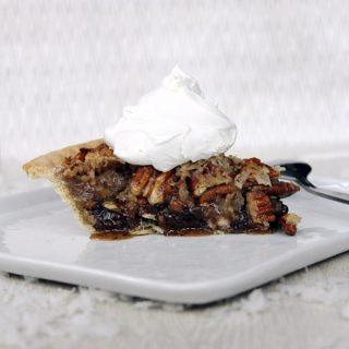 German Chocolate Pecan Pie | @melaniebauer at Melanie Makes #shop