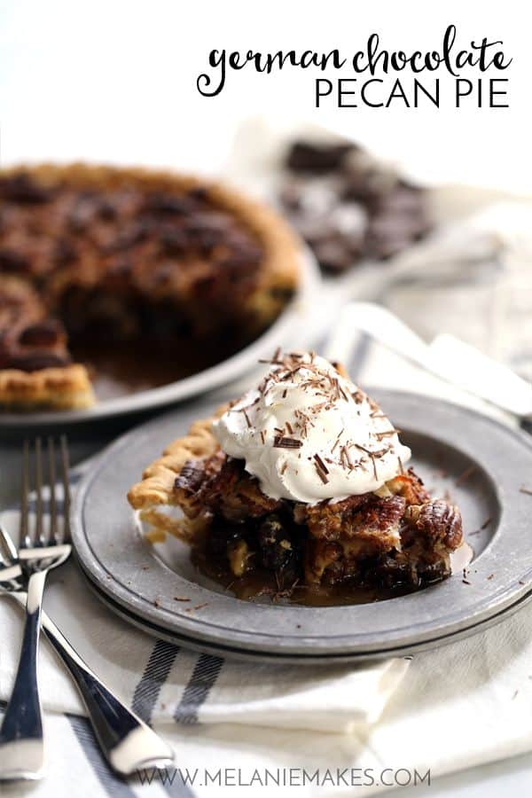 German Chocolate Pecan Pie | Melanie Makes
