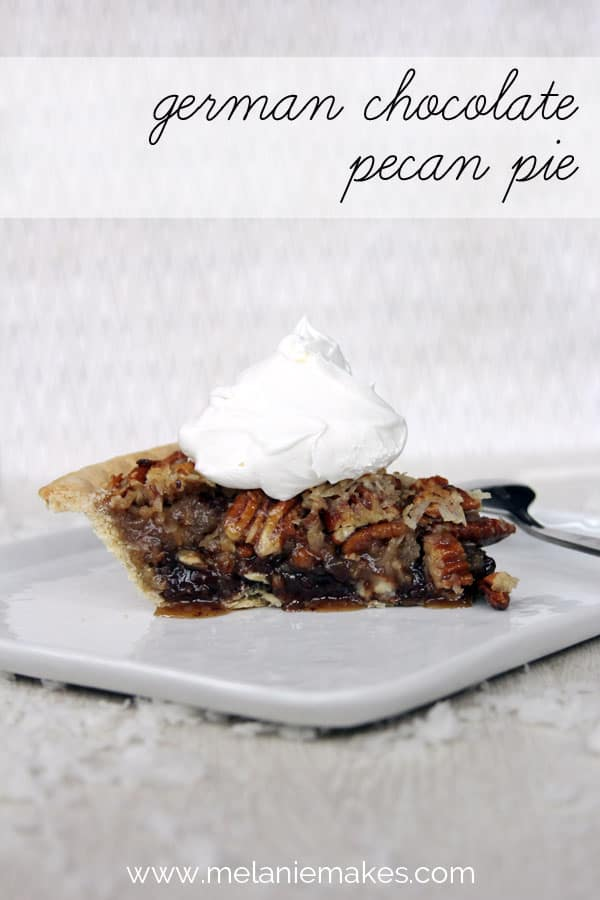 German Chocolate Pecan Pie | Melanie Makes melaniemakes.com