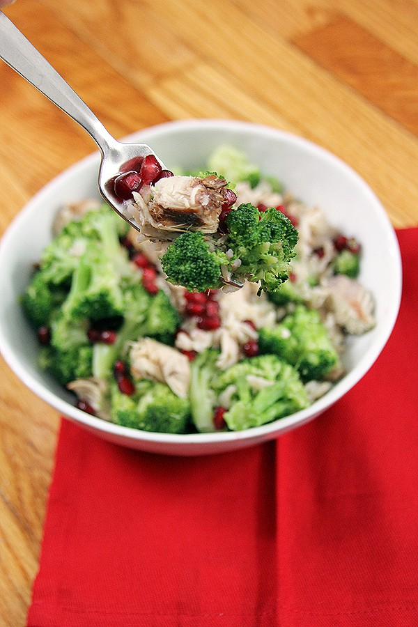 Pomegranate Chicken Rice Bowl | @melaniebauer at Melanie Makes