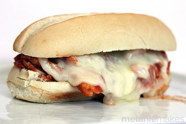 Slow Cooker Chicken Parmesan Sandwiches | Melanie Makes