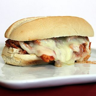 Slow Cooker Chicken Parmesan Sandwiches | @melaniebauer at Melanie Makes