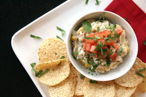 Slow Cooker Salsa Verde Corn Dip | Melanie Makes melaniemakes.com