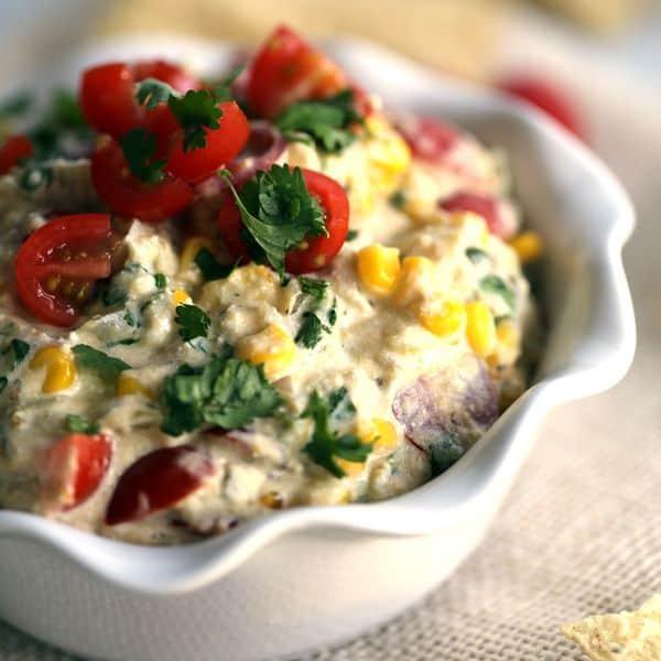 Slow Cooker Salsa Verde Corn Dip   Melanie Makes
